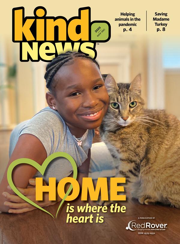 Kind News magazine cover, Nov Dec 2020